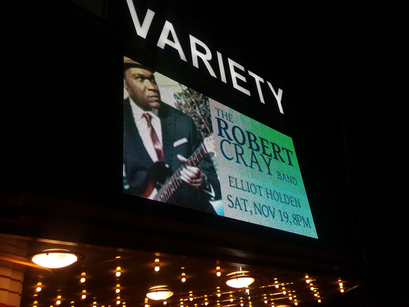 Elliot Holden, Robert Cray marquee at Variety Playhouse